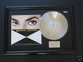 "MICHAEL JACKSON - Black Or White PLATINUM 12"" SINGLE WITH Cover"